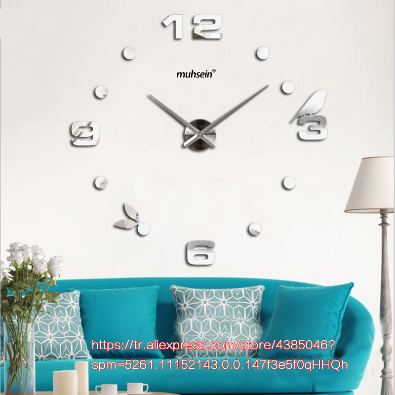 Esplosione sveglio creativo FAI DA TE 3D orologio da parete camera da letto dei bambini orologi silenziosi