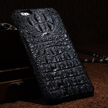 Real Genuine Leather Case for iPhone 7 Plus 6 6S Plus Cell Phone Luxury 3D Crocodile Pattern Retro Vintage Hard Shell Cover Case