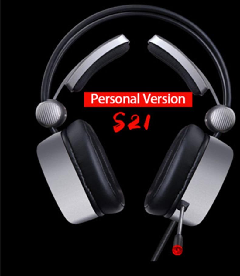 Headset 7.1 Surround Sound LED Luz para