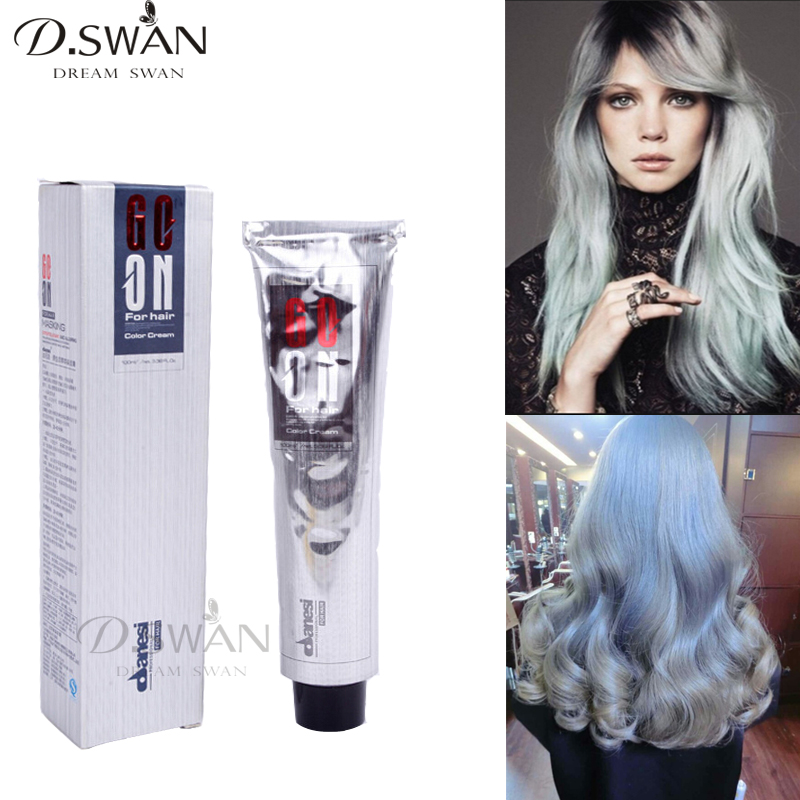 Sliver Gray Hair Color Dye Cream Grey Hair Colour Permanent Hair