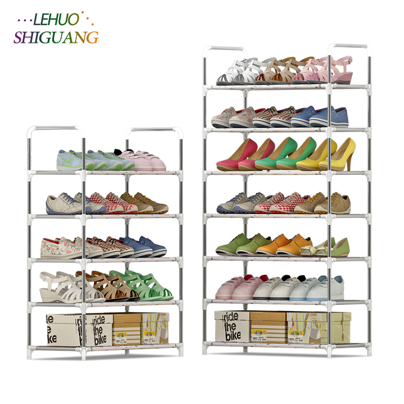Multi-layer Shoe rack Cartoon Non-woven fabric Shoes organizer storage cabinet Assembly Shoe cabinet home living room Furniture double row 12 grid shoe rack wine red non woven organizer storage cabinet assembly shelf shoe cabinet home living room furniture