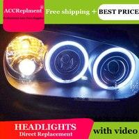 Авто. PRO для vw golf 4 98 05 фары Ангельские глазки свет + ксеноновые линзы светодиодный свет автомобиля H7 h1 светодиодный свет Тюнинг автомобилей