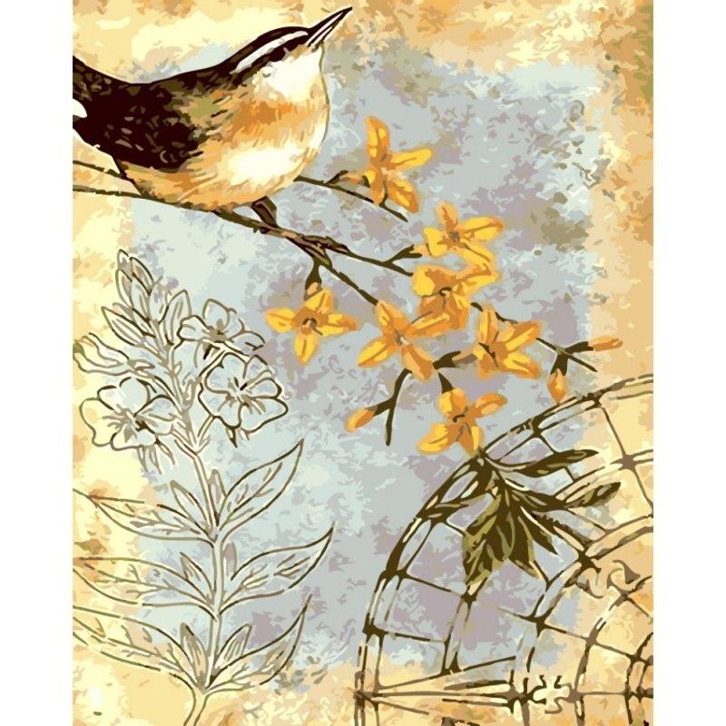 Diy Digital Minyak Lukisan Gambar Lavender Bunga Matahari