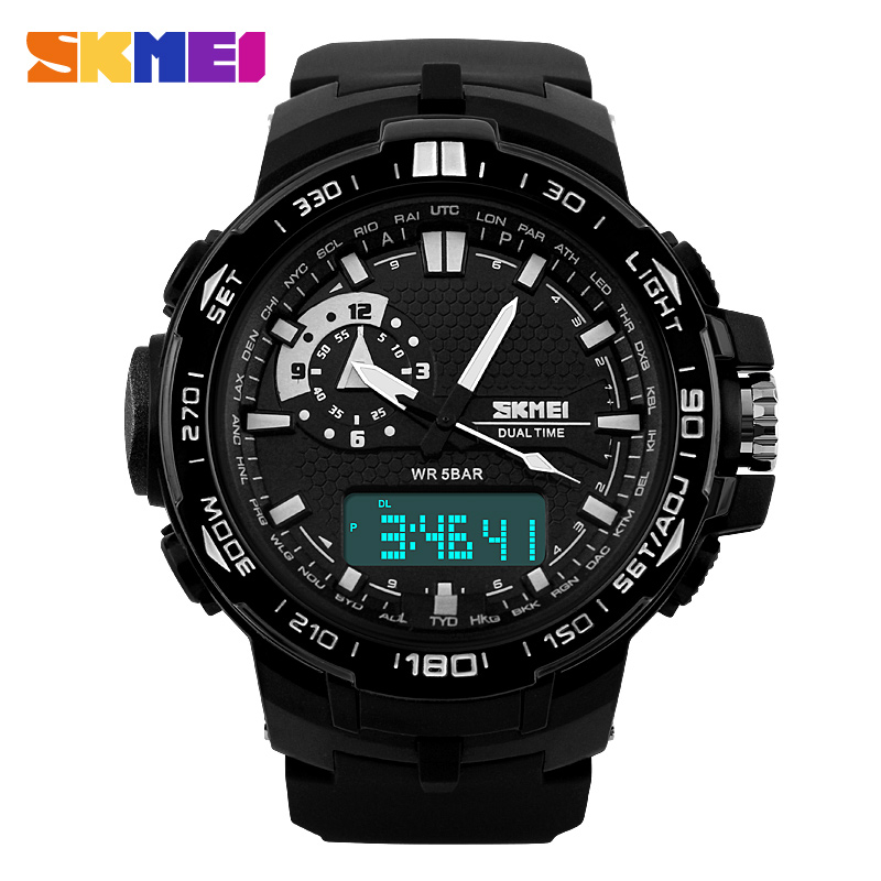 font b SKMEI b font Sport Super Cool Men s Quartz Digital Watch Men Sports