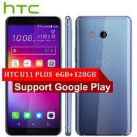 Hot Sale HTC U11 Plus U11+ 4G LTE Mobile Phone 6GB+128GB Snapdragon 835 Octa Core 6.0inch IP68 1440x2880P Android 8.0 Smartphone