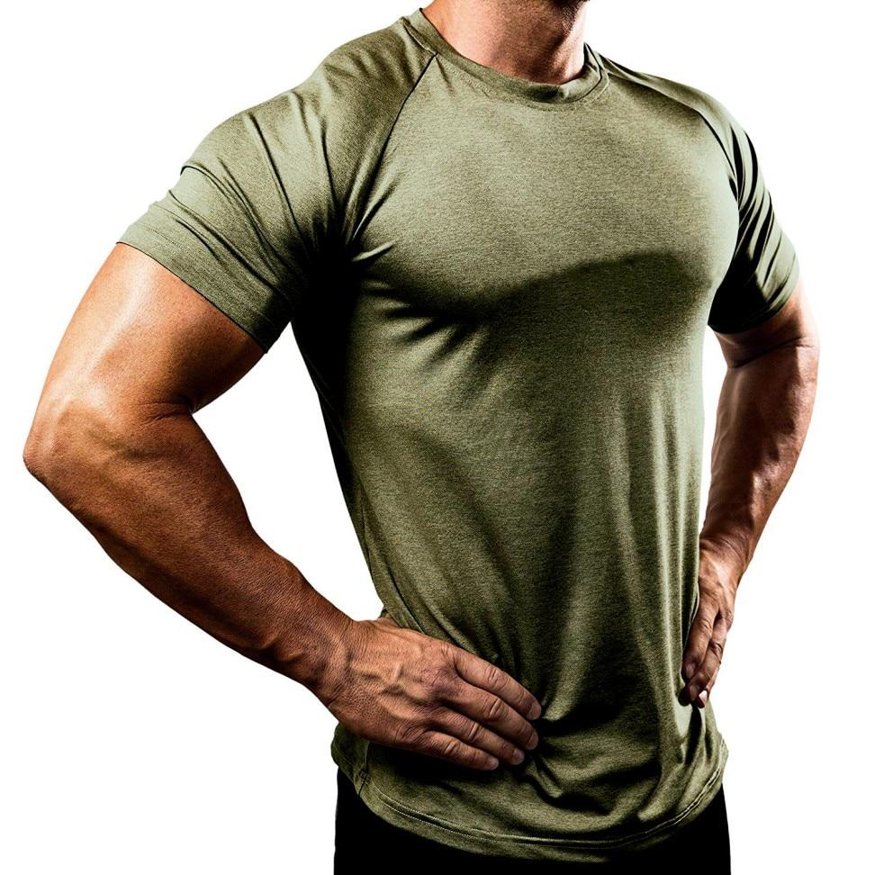 Men T Shirts Summer Sports Running Top Tees Mens Clothing Short Sleeve Casual O Neck Quick Drying Fitness Tshirt Sportwear