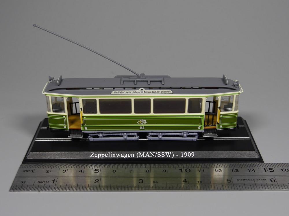 Ho scale model 1:87 scale tram Zeppelinwagen (MAN/SSW) 1909 Diecast model car(China)