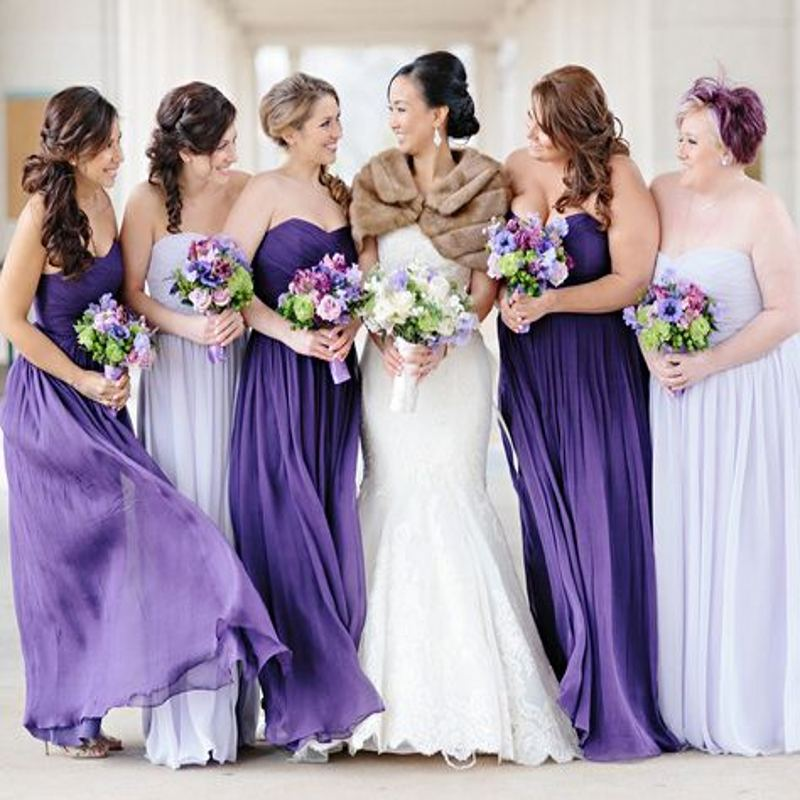 Elegant 2016 light purple bridesmaid dresses summer beach for Light purple wedding dress