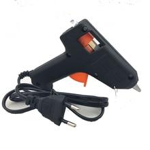 Европейская вилка мини 20 Вт горячий клеевой пистолет тепловой инструмент для ремонта с 1 шт 7x190 мм термоклеевые палочки
