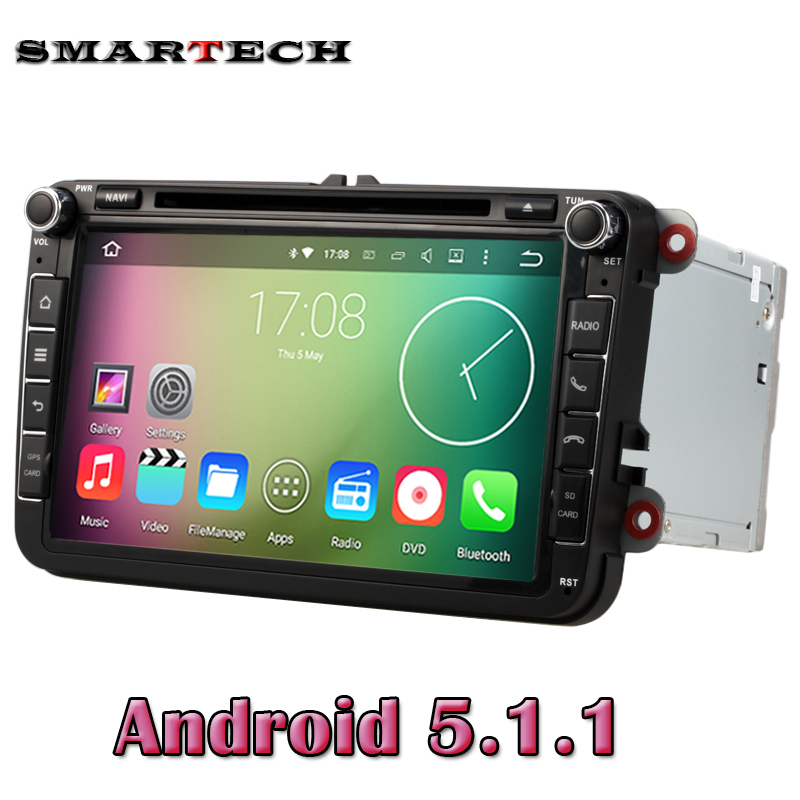 VW Radio Android 5.1 Quad Core 1024*600 Car DVD Player Stereo Navi For VW Skoda POLO GOLF PASSAT CC JETTA Steeringwheel OBD WIFI