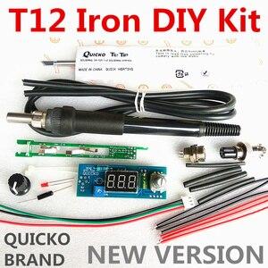 Image 2 - STC T12 saldatura del ferro kit FAI DA TE/Unità Digitale Stazione di Saldatura di Ferro Regolatore di Temperatura Kit/QUICKO MINI STC LED T12 set FAI DA TE