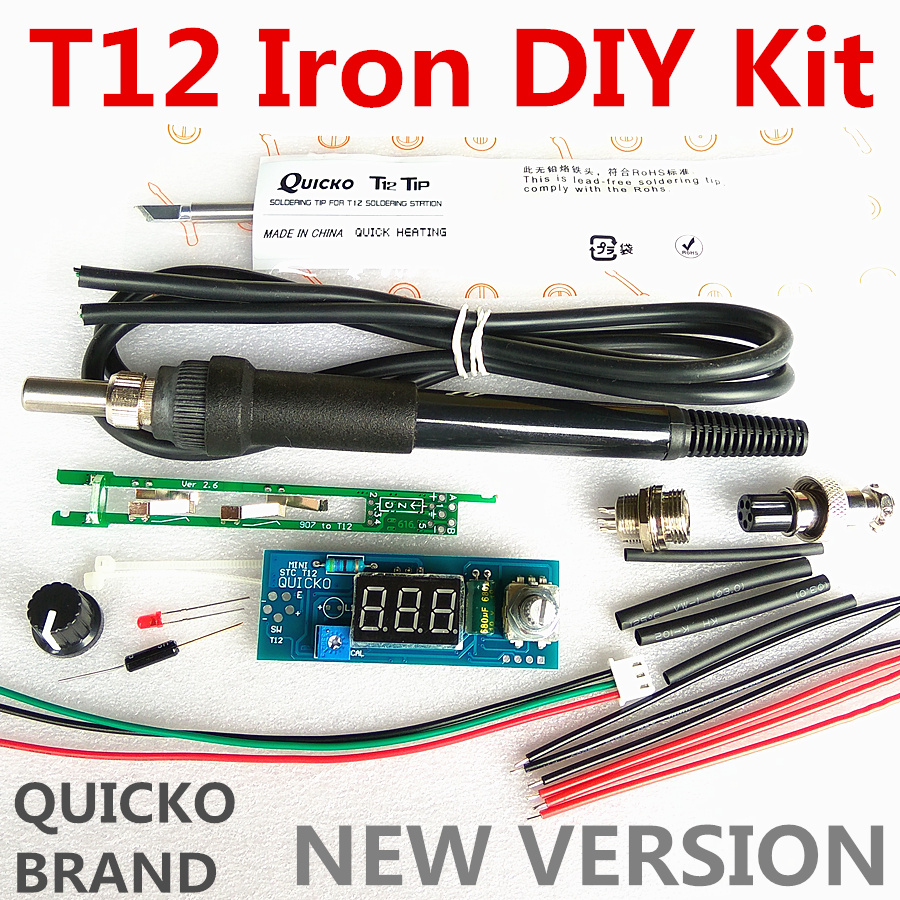 Image 2 - STC T12 solder iron DIY kits/Unit Digital Soldering Iron Station Temperature Controller Kits / QUICKO MINI STC LED T12 DIY setssoldering iron stationiron stationdigital soldering iron station - AliExpress