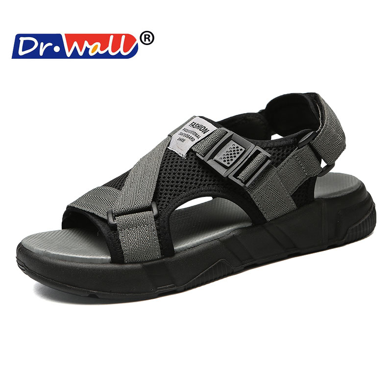 Dr.wall 2018 Sandal Slippers Summer Beach Shoes Breathable Wading Shoes Leisure Casual Outdoor Slides Walking Young Men Shoes