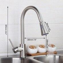 Yanksmart 360 градусов Поворотный два воды модель вытащить спрей Кухонная мойка кран Одной ручкой смеситель бортике Смесители для кухни