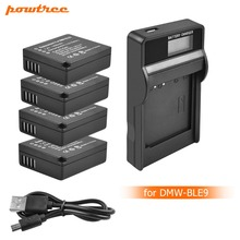 4X DMW-BLE9 DMW-BLG10 BLG10 BP-DC15 BPDC15 DMW BLE9 BLE9E Battery+LED charger For Panasonic Lumix GF6,GX7,GX80,GX7 Mark II L10