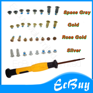 New A1534 Screws 8pcs/Lot Gold/Rose Gold/Space Gray/Silver Bottom Case Cover Screws Screw+Screwdriver For 12