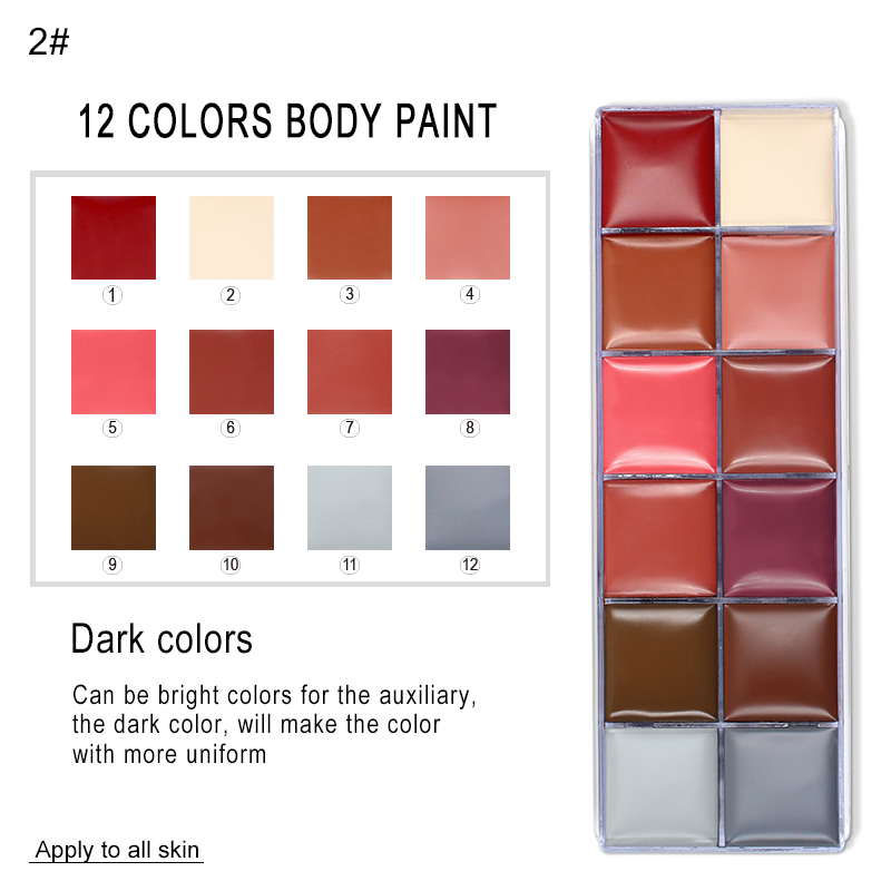Paleta de Pintura Corpo Maquiagem Rosto Imagic 12