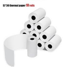 CCRALX бумага ANG термальная бумага для печати 57*30 термальная бумага для печати этикеток POS банкнот кассовый аппарат бумага 10 рулонов