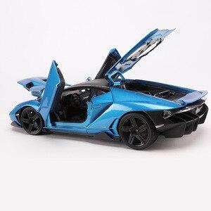 Image 5 - 1:18 scala Pressofusi In LP770 4 Modello di Auto Sportiva Simulato Lega di giocattoli modello di Auto con controllo del volante dello sterzo della ruota anteriore