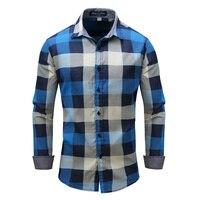 COCKCON Brand Men Flannel Plaid Shirt 100 Cotton 2018 Spring Autumn Casual Long Sleeve Shirt Soft