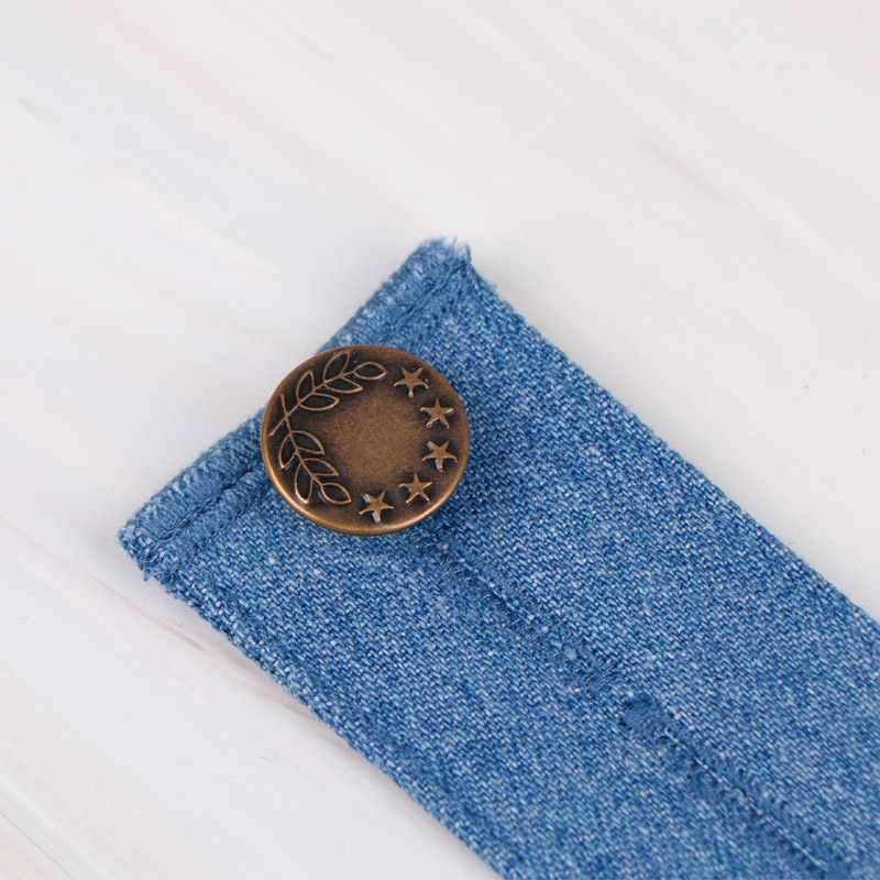 Cinturón para embarazada soporte de embarazo premamá pretina cinturón elástico a la cintura botón Extender pantalones ajustables botón 4829