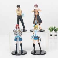 4 pz/lotto 15 cm Fairy Tail Natsu Lucy Grigio Erza PVC Action Figure Giocattoli di Modello della Bambola