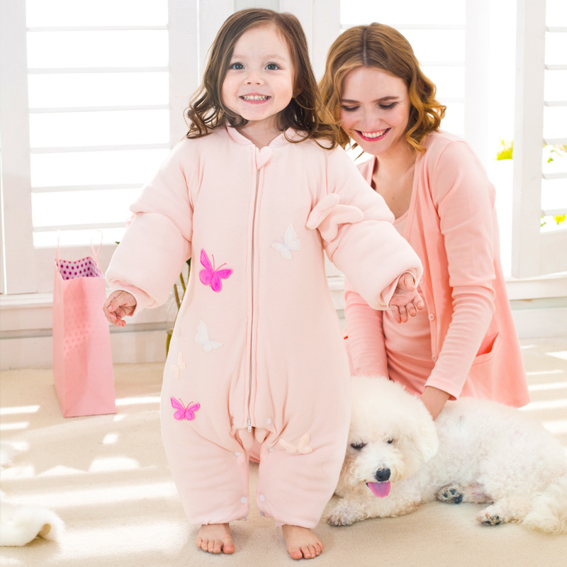 Baby sleeping bag envelop for neonate pure cotton newborn baby infant wrapped cocoon in winter stroller split leg well details boy girl infant wrap envelop for newborns sleeping bag pure cotton printed with fawn patterns thicken in autum winter or sprin