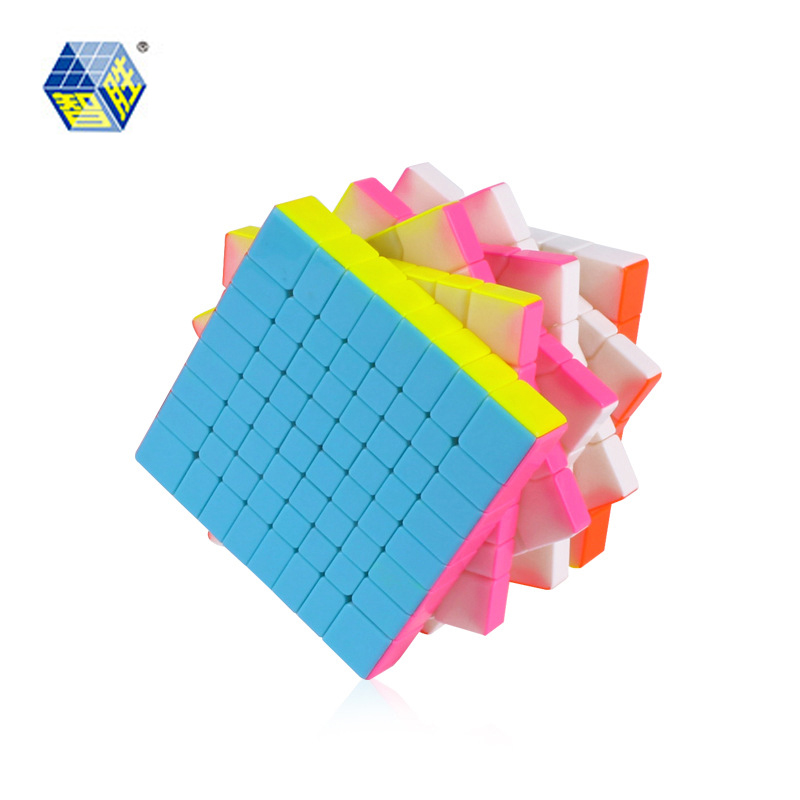 ZHISHENG HUANGLONG 8*8*8 Magic Puzzle Cube stickerless Educational Toys Gifts 88mm shengshou 10x10x10 magic cube puzzle black and white and primary learning