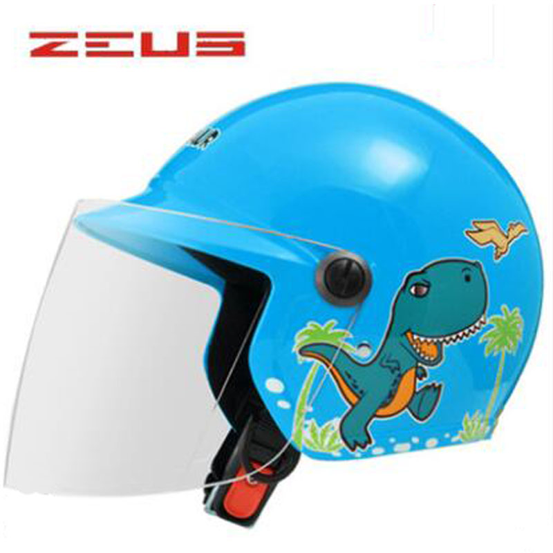 2018 Summer New Taiwan ZEUS Cartoon Half Face Children Motorcycle Helmets Four seasons boys/girls Electric Bicycle Child Casque