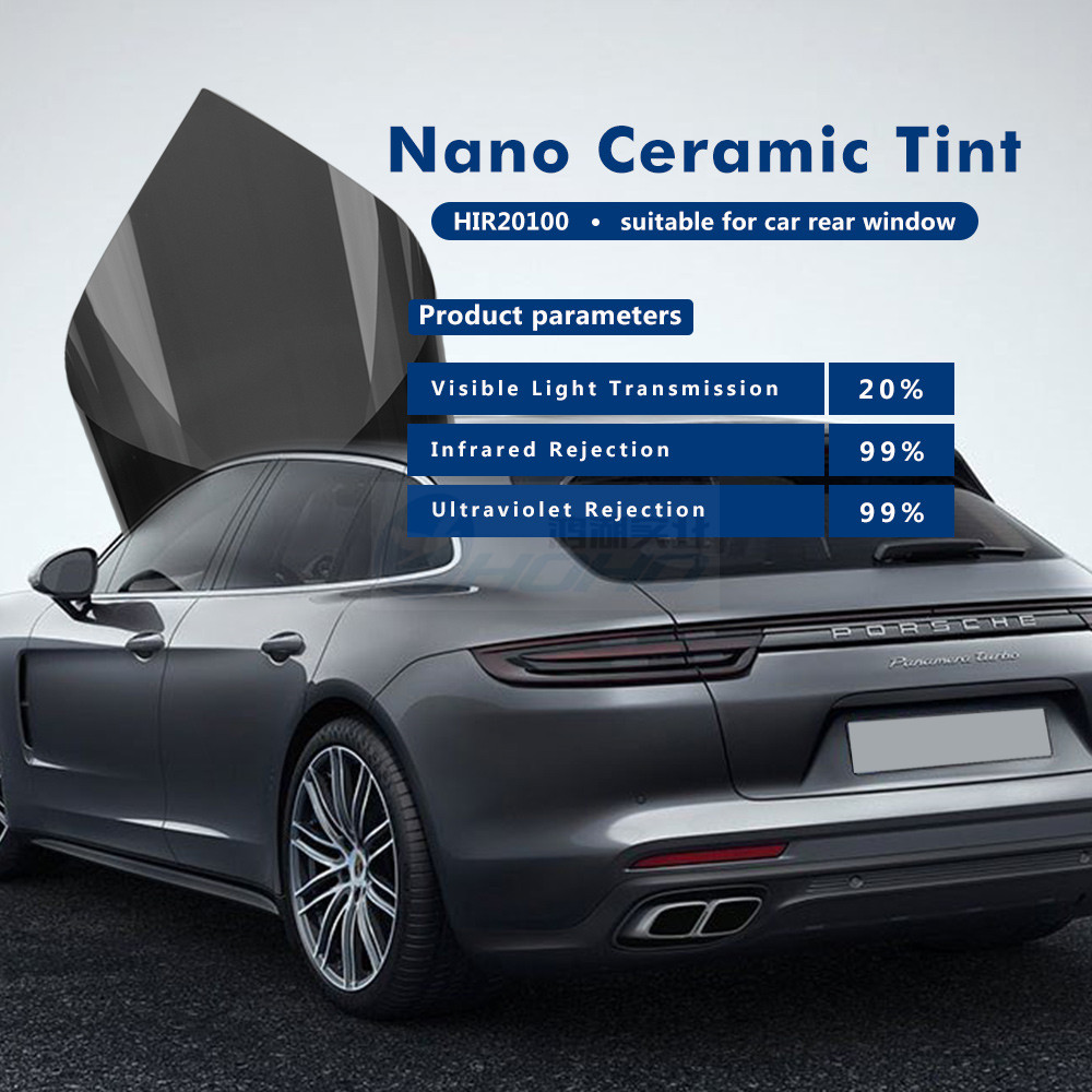 Dark Grey Car Window Tint Film 20% Light Transmittance 99