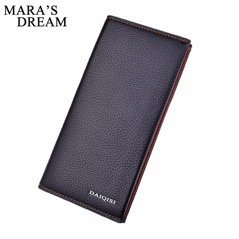 Mara's Dream Men Wallets Long PU Leather Male Purse Large Capacity Phone Bag Slim Purses Money Bags Credit Card Holder Clutches famous brand leather wallets men small casual vintage short purses male credit card holders hot sale creative design money bags