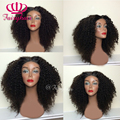 Afro curly synthetic lace front wig black glueless heat resistant synthetic lace front wig for black women kinky curl lace wigs