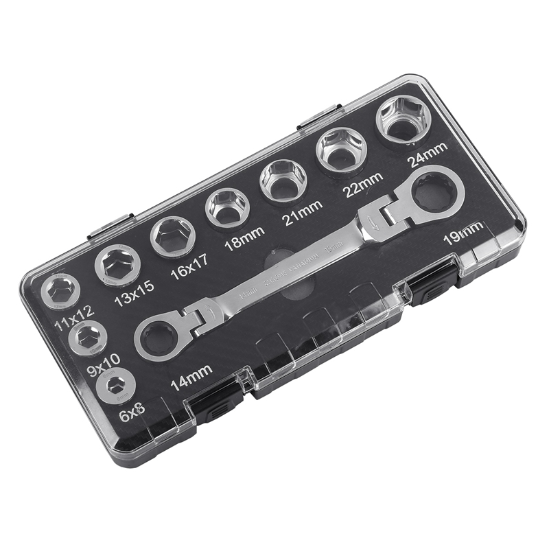 16 IN 1 6 24mm Socket Wrench Adapter Drive Socket Torque Wrench Socket With Activities Ratchet Wrench Set Adjustable Spanner in Wrench from Tools