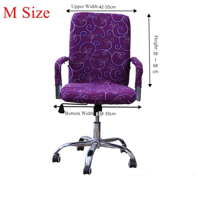 S/M/L Spandex Office Chair Covers Slipcover Armrest Cover Computer Seat Cover  Stool Swivel Chair Elastic Seat Cover Antimacassar