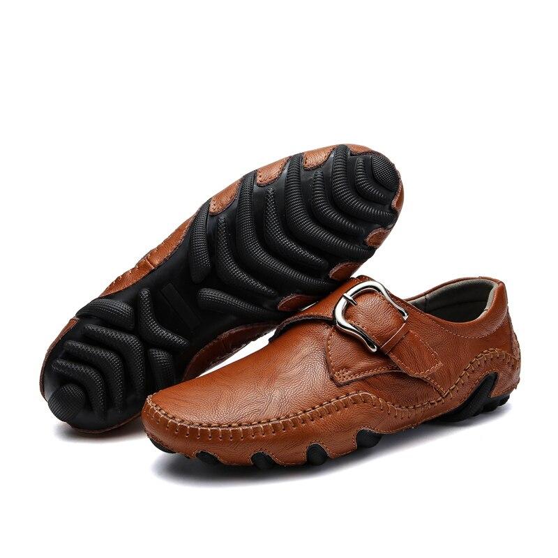 De Noir 38 Plat Split Taille Cuir Casual En L'extérieur 44 Slip Conduisant Brun Mocassins À Brown black Sur Hommes Chaussures 5LcAjR4qS3