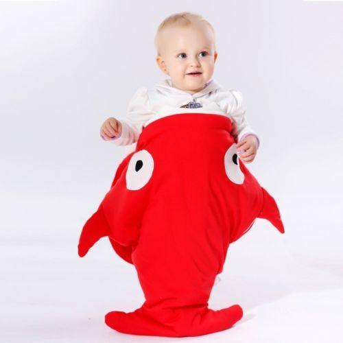 Hot New Shark Infant Baby Sleeping Bag Kids Stroller Bed Blanket Swaddling Sleep Sack
