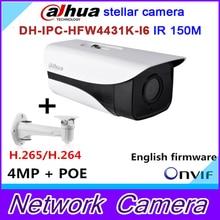 Original dh-ipc-hfw4431k-i6 estelar cámara $ number mp dahua red ip ir bullet h264 h265 ipc-hfw4431k-i6 ranura para tarjeta sd