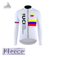 2018 Eyessee winter thermal fleece   cycling     jersey   long ropa ciclismo mtb bike clothes fleece Colombia   cycling   clothing