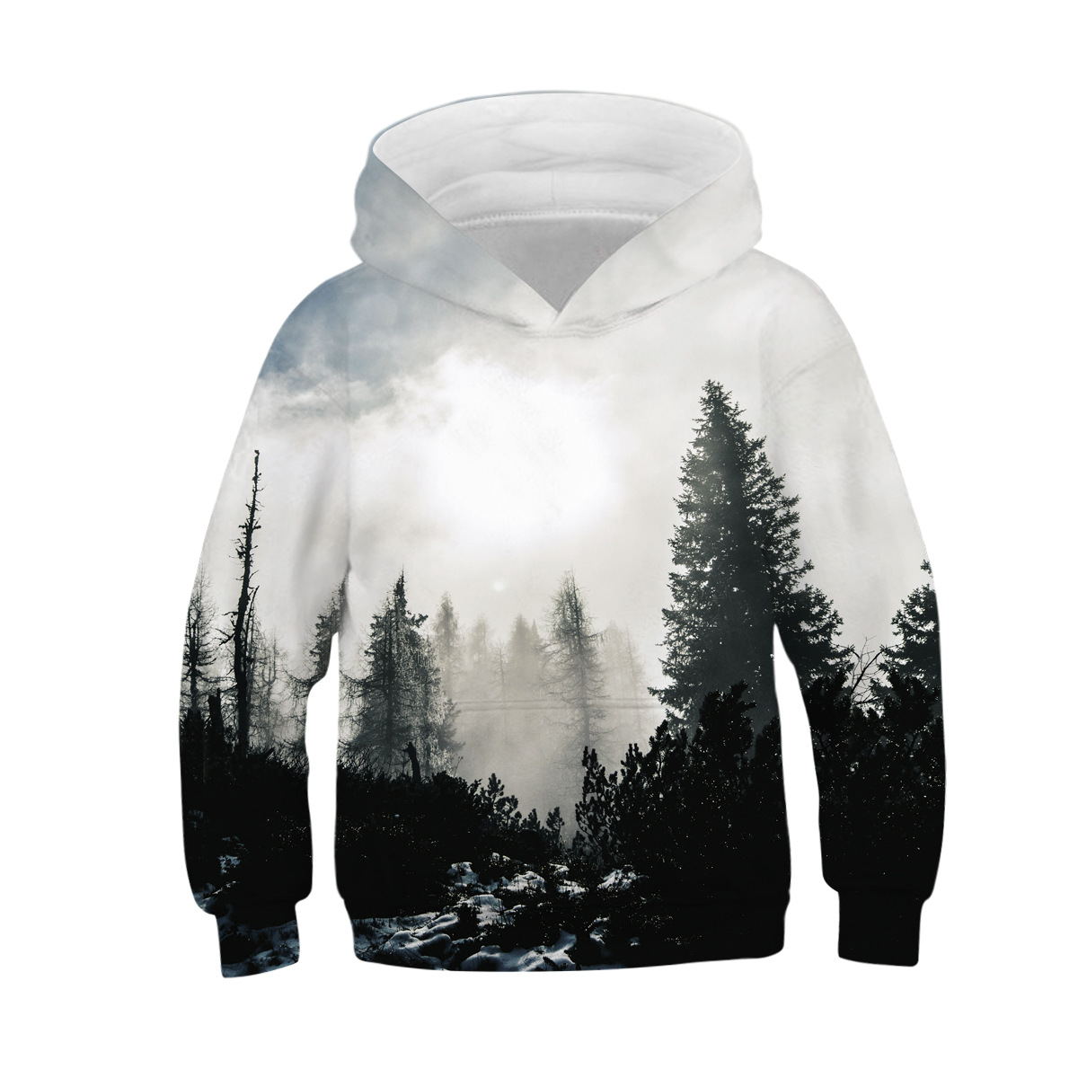 3D Print Children Art Scenery Hoodie girl and boy Fashion Casual hooded clothing Hooded long sleeve Shirts Streetwear(China)