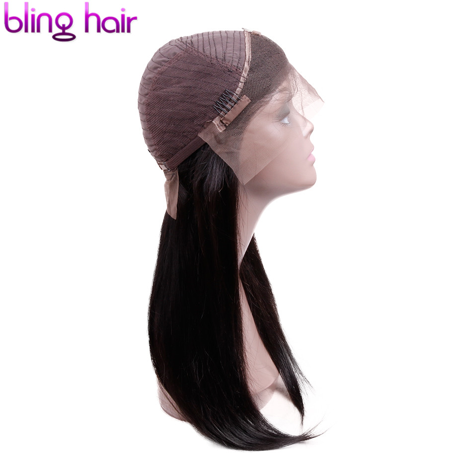 Bling Hair 360 Lace Frontal Wig Brazilian Straight Lace Front Human Hair Wigs with Baby Hair