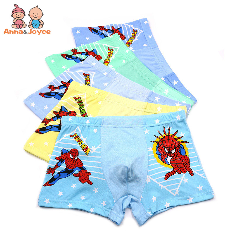 10Pcs/Lot Summer Modal Boys Boxer Kids Underwear Child Boxer Briefs Cartoon Boxer Pants 2-10 Years 5piece new pure color boys kids underwear boxers mixing many children underwear modal high quality soft modal boys briefs2 16y