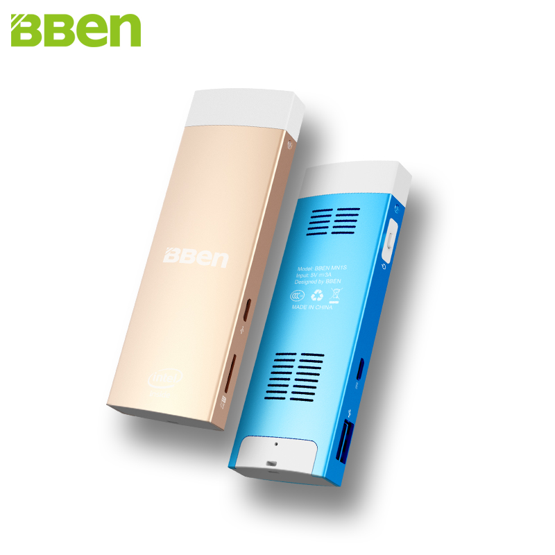 Bben MN1S Intel Mini PC X5-Z8350 Windows 10 și Android 5.1 Quad Core 2G Memorie WiFi BT4.0 Windows Mini PC Stick PC pentru computer