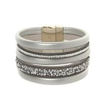 ORNAPEADIA New Hot Jewelry Bohemia bracelet Magazine big brand light luxury chain gem Leather Bangles for women gift wholesales