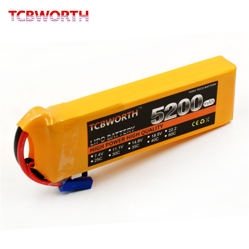 RC <font><b>LiPo</b></font> Battery 7.4V <font><b>5200mAh</b></font> 35C <font><b>2S</b></font> FOR RC Airplane Helicopter Drone Car Boat Batteries <font><b>LiPo</b></font> 7.4V RC Parts XT60 T Plug AKKU Fact image