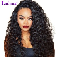Luduna Lace Front Human Hair Wigs With Baby Hair Water Wave Human Hair Wigs Density 150