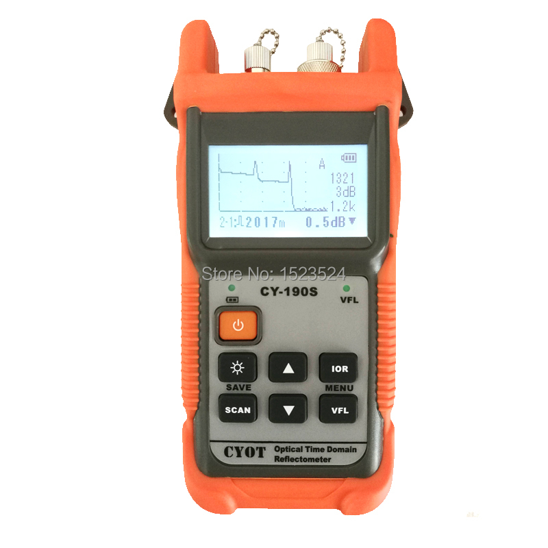 Optical Fiber Ranger MINI OTDR CY190S Visual Fault Locator Fault Detection And Positioning Instrument