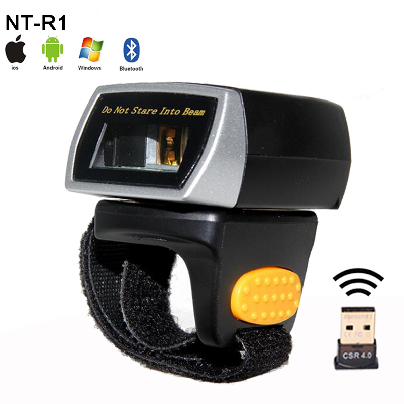 New weirless laser barcode Reader Portable Wearable Ring Barcode Scanner 1D Reader Mini Bluetooth Scanner for Window/Android/IOS laser weirless scanner wearable ring bar code scanner mini bluetooth scanner barcode reader 1d reader scan for phone pc tablet