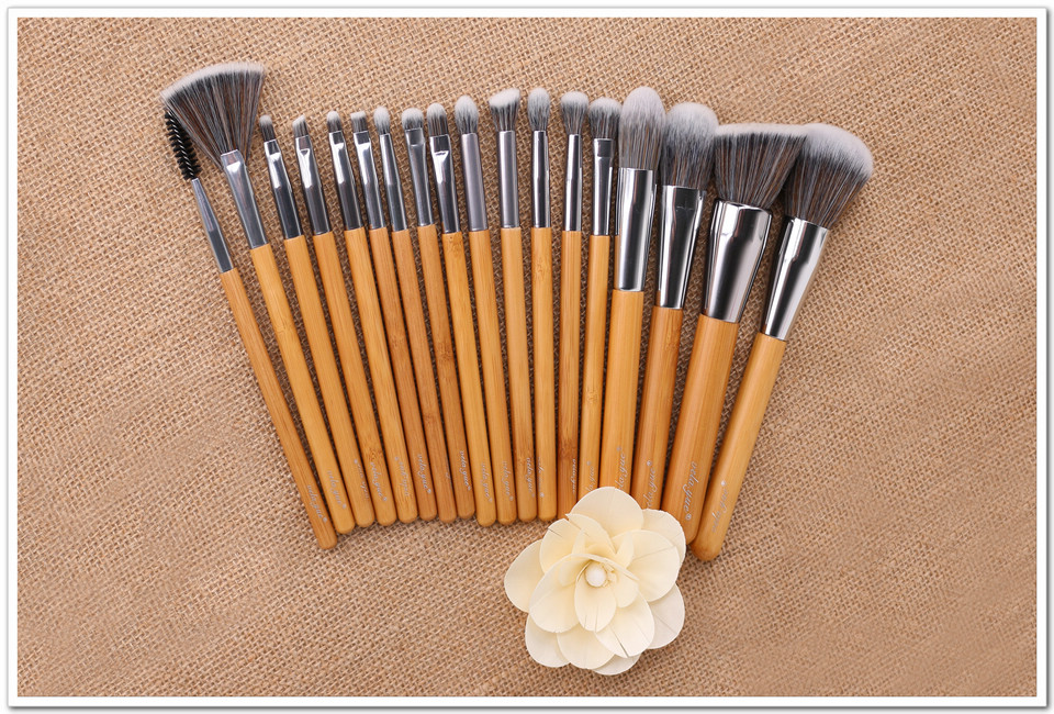 Velayue 5 to 18 Pcs Makeup Brush Set including Flat Top Brush and Fluffy Brush for Full Face and Eye Makeup 15