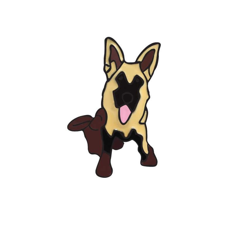 Enamel Katak Lucu Bata Merah Anjing Lencana Hewan Bros Mantel Denim Aksesori Tas Wanita Pria Perhiasan Hadiah Pesta Gratis pengiriman