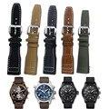 Colorido reloj de cuero de becerro genuino correa con hebilla de implementación para iwc big pilot portugués cronógrafo 22mm reloj + herramienta